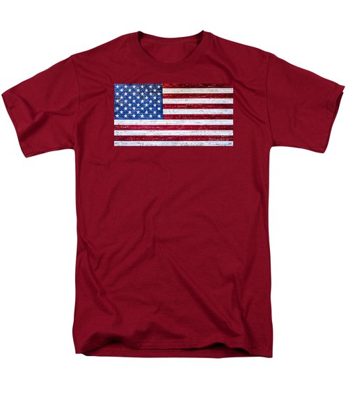 Land Of The Free Men's T-Shirt  (Regular Fit) by David Millenheft