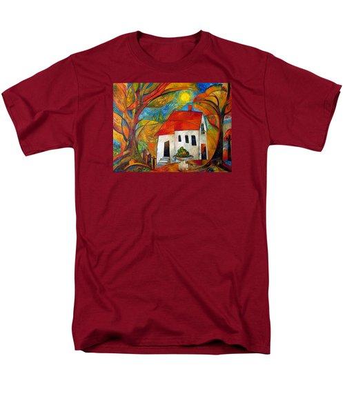 Landscape With The House Men's T-Shirt  (Regular Fit) by Mikhail Savchenko