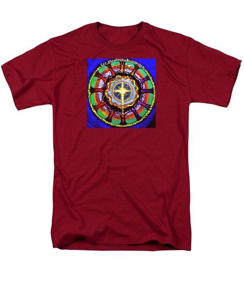 Let The Circle Be Unbroken Men's T-Shirt  (Regular Fit) by Jeanette Jarmon