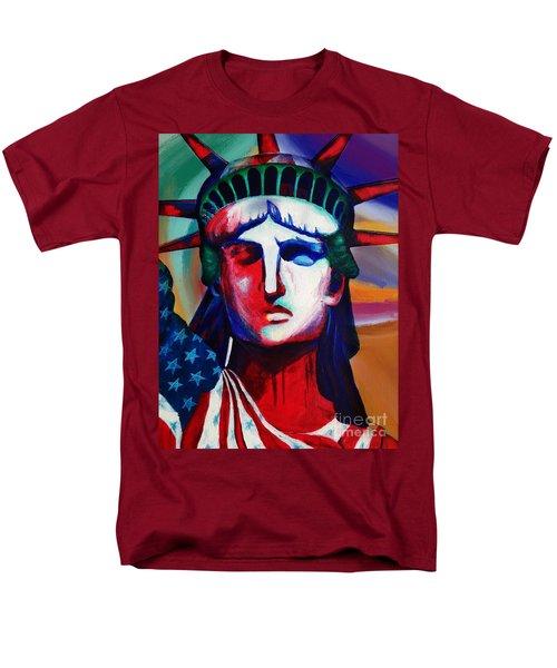 Liberty Of Statue New York 98jhm Men's T-Shirt  (Regular Fit) by Gull G