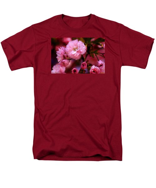 Men's T-Shirt  (Regular Fit) featuring the photograph Lovely Spring Pink Cherry Blossoms by Shelley Neff
