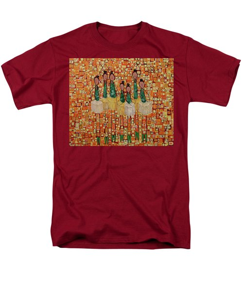 Men's T-Shirt  (Regular Fit) featuring the painting Lucky Seven by Donna Howard