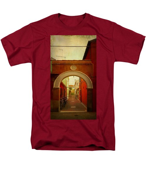 Men's T-Shirt  (Regular Fit) featuring the photograph Malamocco Arch No1 by Anne Kotan