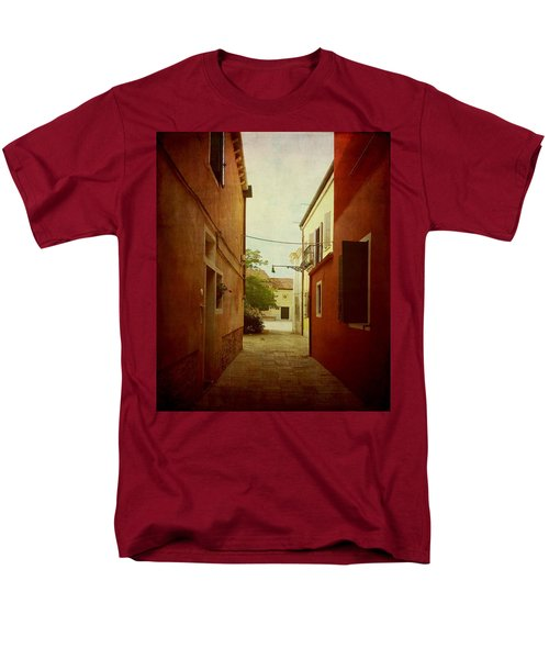 Men's T-Shirt  (Regular Fit) featuring the photograph Malamocco Perspective No2 by Anne Kotan