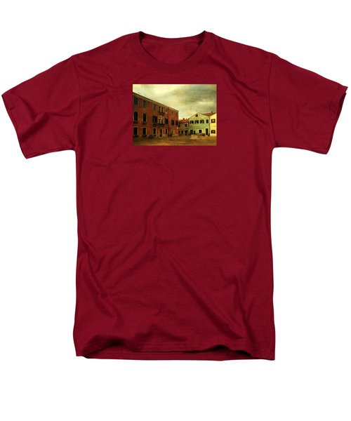 Men's T-Shirt  (Regular Fit) featuring the photograph Malamocco Piazza No1 by Anne Kotan