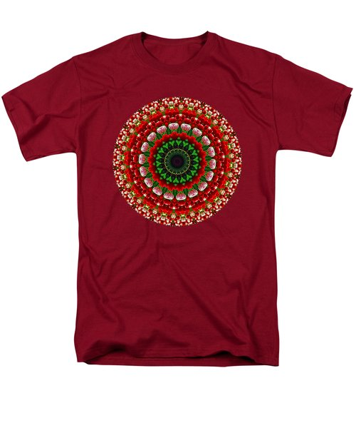 Mandala Tulipa By Kaye Menner Men's T-Shirt  (Regular Fit) by Kaye Menner