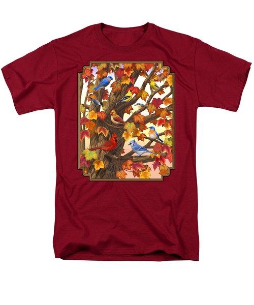 Maple Tree Marvel - Bird Painting Men's T-Shirt  (Regular Fit)