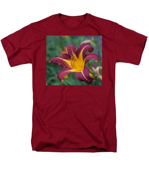 Men's T-Shirt  (Regular Fit) featuring the photograph Maroon And Gold by Arlene Carmel