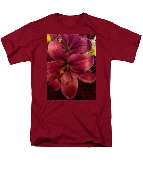 Men's T-Shirt  (Regular Fit) featuring the photograph Marsala Lily by Arlene Carmel