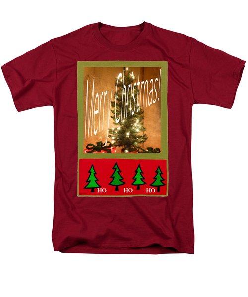 Merry Christmas Hohoho Men's T-Shirt  (Regular Fit) by Barbie Corbett-Newmin