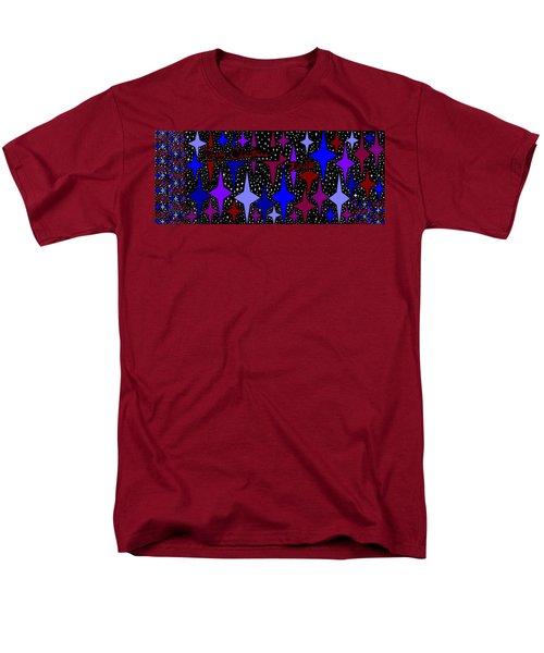 Merry Christmas To All, Starry, Starry Night Men's T-Shirt  (Regular Fit) by Linda Velasquez