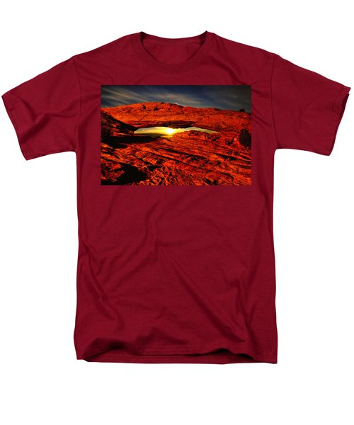 Mesa Arch Moonshine Men's T-Shirt  (Regular Fit) by Greg Norrell