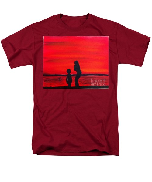 Men's T-Shirt  (Regular Fit) featuring the painting Mother And Child by Rod Jellison