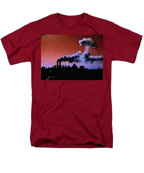 Men's T-Shirt  (Regular Fit) featuring the digital art Mushroom Cloud From Flight 175 by James Kosior