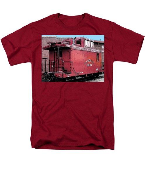 Men's T-Shirt  (Regular Fit) featuring the digital art My Little Red Caboose by Gary Baird