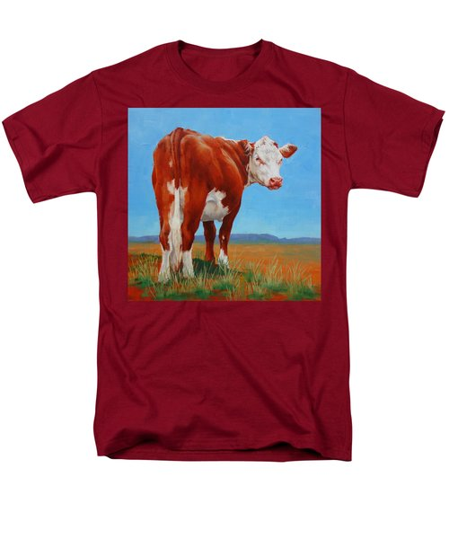 Men's T-Shirt  (Regular Fit) featuring the painting New Horizons Undecided by Margaret Stockdale