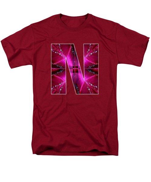 Nnn Nn N  Alpha Art On Shirts Alphabets Initials   Shirts Jersey T-shirts V-neck By Navinjoshi Men's T-Shirt  (Regular Fit) by Navin Joshi