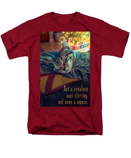 Not A Creature Was Stirring Men's T-Shirt  (Regular Fit) by Debbie Karnes