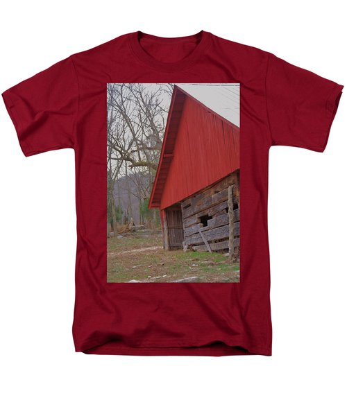 Men's T-Shirt  (Regular Fit) featuring the photograph Old Log Barn by Debbie Karnes