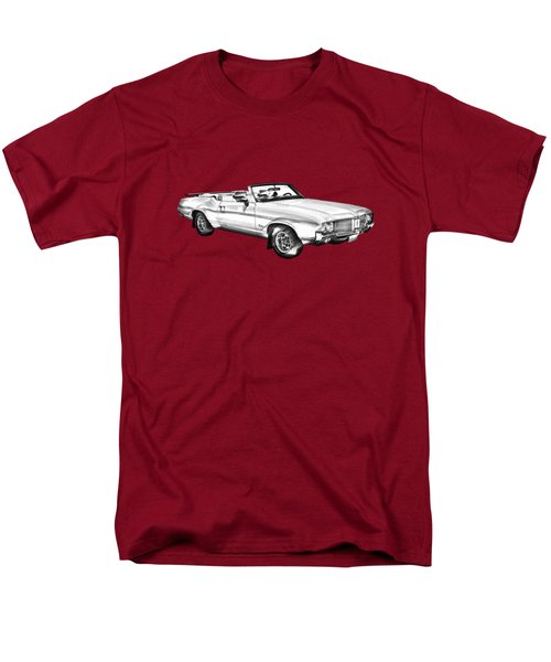 Oldsmobile Cutlass Supreme Muscle Car Illustration Men's T-Shirt  (Regular Fit) by Keith Webber Jr