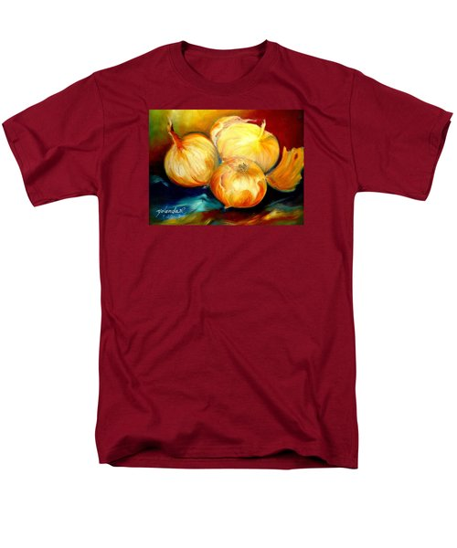 Men's T-Shirt  (Regular Fit) featuring the painting Onions by Yolanda Rodriguez