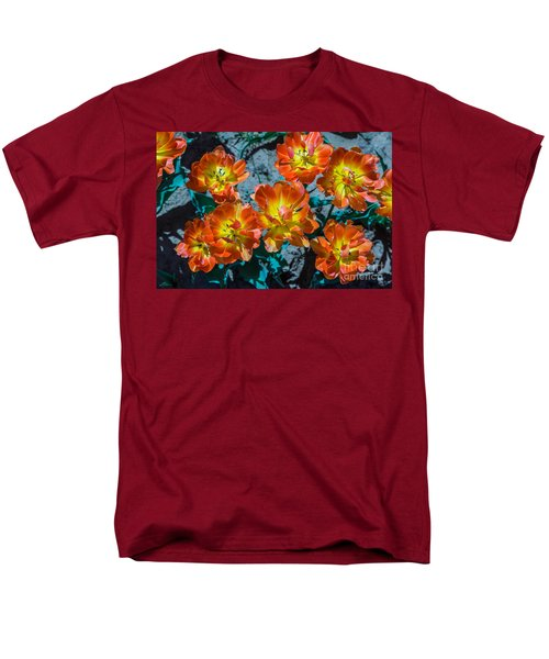 Orange And Yellow Tulips Men's T-Shirt  (Regular Fit) by John Roberts
