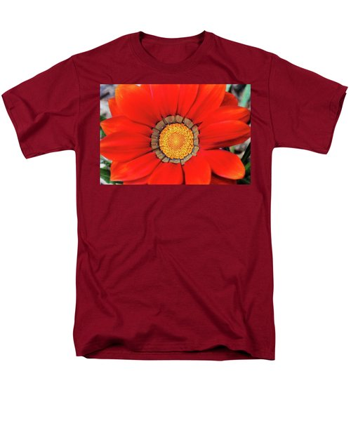 Orange Gazania With Texture Men's T-Shirt  (Regular Fit) by Trina Ansel