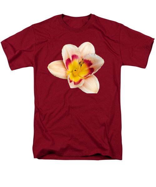 Orange Yellow Lilies Men's T-Shirt  (Regular Fit) by Christina Rollo