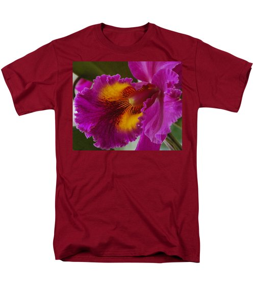 Men's T-Shirt  (Regular Fit) featuring the photograph Orchid In The Wild by Debbie Karnes