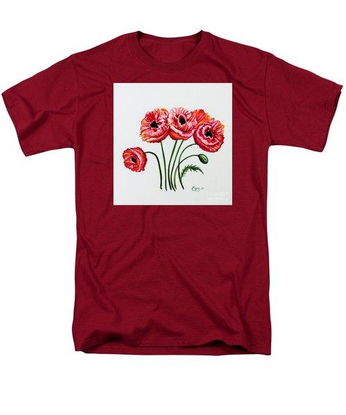 Oriental Poppies Men's T-Shirt  (Regular Fit) by Elizabeth Robinette Tyndall