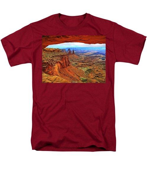 Men's T-Shirt  (Regular Fit) featuring the photograph Overlooking Canyonlands National Park    Moab Utah by Gary Baird