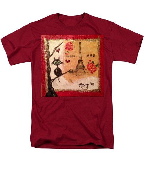 Paris Cat  Men's T-Shirt  (Regular Fit) by Roxy Rich