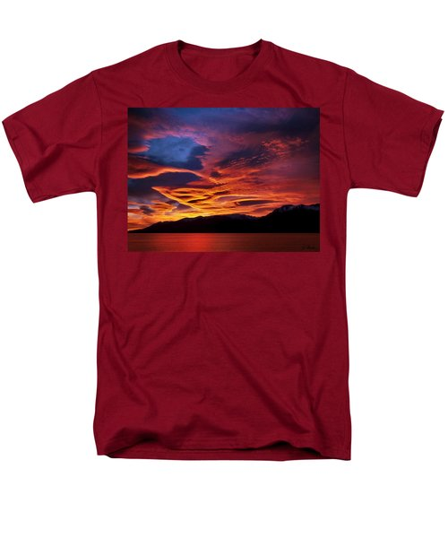 Patagonian Sunrise Men's T-Shirt  (Regular Fit) by Joe Bonita