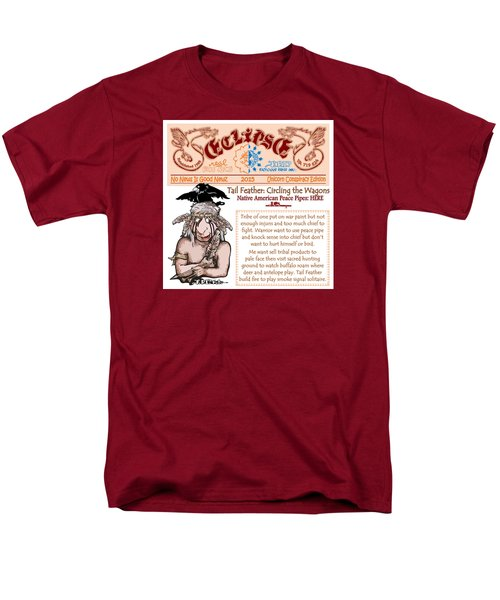 Men's T-Shirt  (Regular Fit) featuring the drawing Real Fake News Circling The Wagons 2 by Dawn Sperry