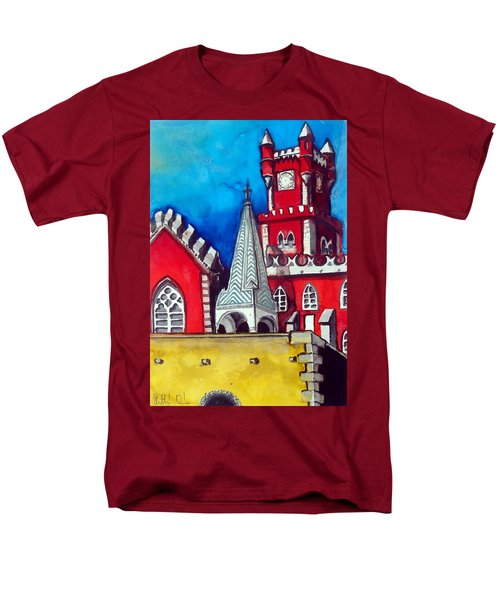 Pena Palace In Portugal Men's T-Shirt  (Regular Fit) by Dora Hathazi Mendes