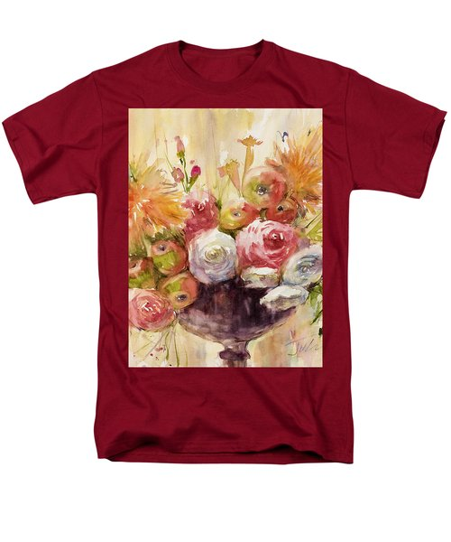 Petite Apples In Floral Men's T-Shirt  (Regular Fit) by Judith Levins