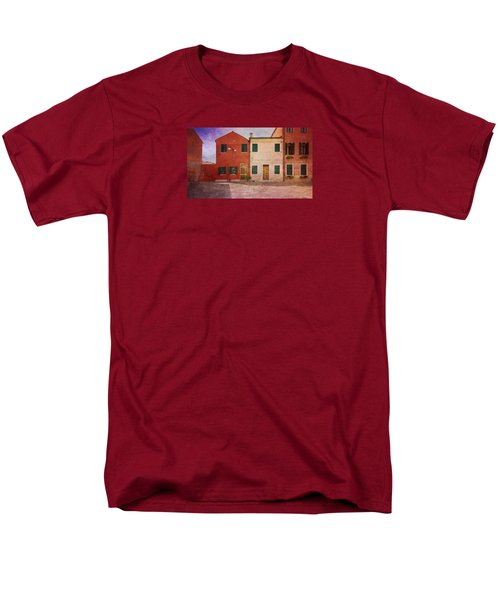 Men's T-Shirt  (Regular Fit) featuring the photograph Pink Houses by Anne Kotan