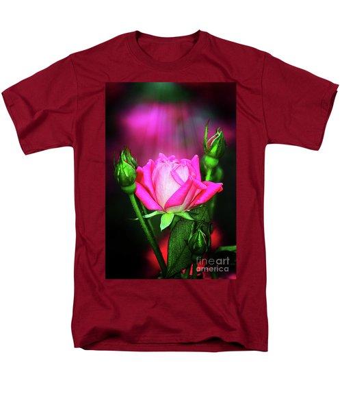 Pink Rose Men's T-Shirt  (Regular Fit) by Inspirational Photo Creations Audrey Woods