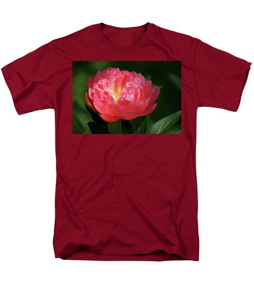 Men's T-Shirt  (Regular Fit) featuring the photograph Pink Rose by Jean Haynes