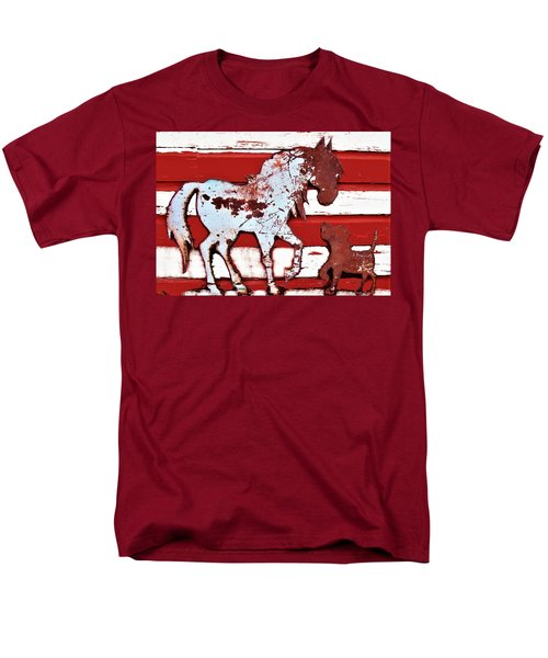 Pony And Pup Men's T-Shirt  (Regular Fit) by Larry Campbell