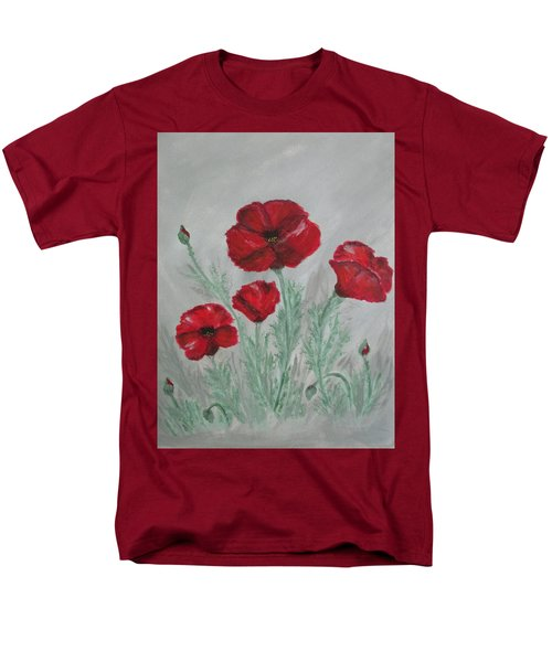 Poppies In The Mist Men's T-Shirt  (Regular Fit) by Sharyn Winters