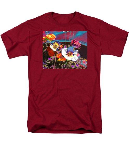 Poppy Abstract 3 Men's T-Shirt  (Regular Fit)