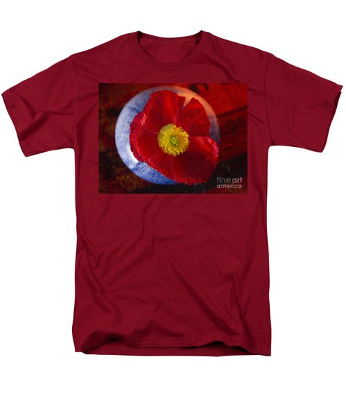 Men's T-Shirt  (Regular Fit) featuring the photograph Poppy On Orange by Jeanette French