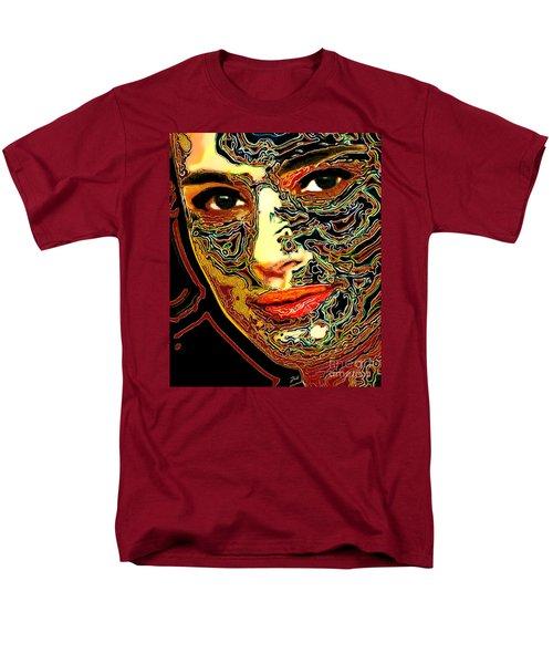 Portrait Of Natalie Portman Men's T-Shirt  (Regular Fit) by Zedi