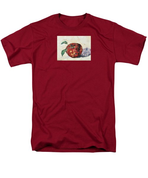 Men's T-Shirt  (Regular Fit) featuring the painting Pretty Apple by Reina Resto