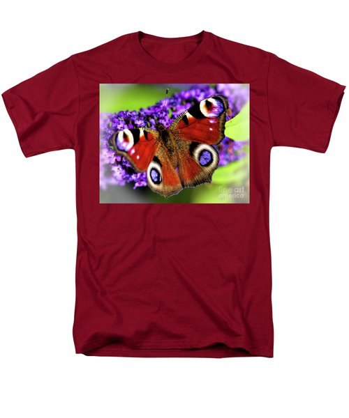 Men's T-Shirt  (Regular Fit) featuring the photograph Pristine Peacock by Baggieoldboy