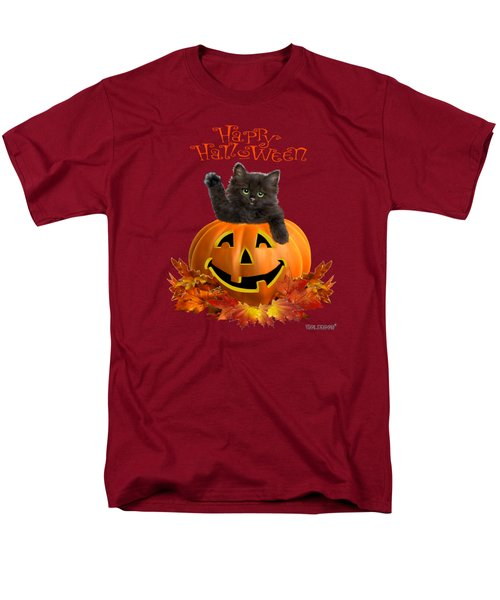 Pumpkin Kitty Men's T-Shirt  (Regular Fit) by Glenn Holbrook