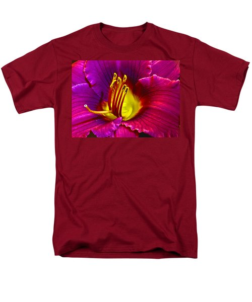 Men's T-Shirt  (Regular Fit) featuring the photograph Purple Lily by Bill Barber