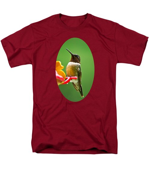 Rainy Day Hummingbird Men's T-Shirt  (Regular Fit) by Christina Rollo