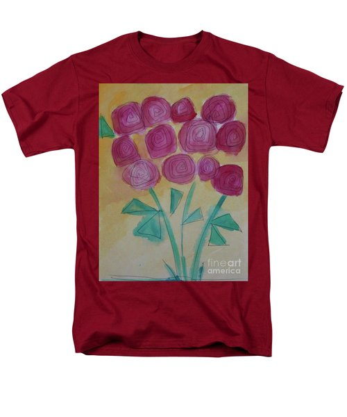 Men's T-Shirt  (Regular Fit) featuring the painting Randi's Roses by Kim Nelson